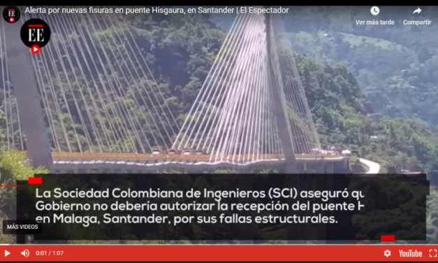 Puente Hisgaura: encuentran fisuras en su estructura