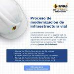 Proceso de modernización de infraestructura vial